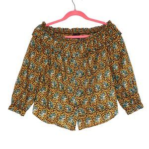 J crew Ratti Off The Shoulder Elephant Blouse 2